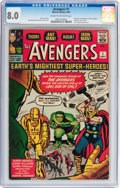 Silver Age (1956-1969):Superhero, The Avengers #1 (Marvel, 1963) CGC VF 8.0 Cream to off-whitepages....