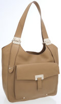 Jimmy Choo Beige Leather Hobo Bag