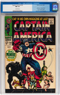 Silver Age (1956-1969):Superhero, Captain America #100 (Marvel, 1968) CGC NM 9.4 Off-white pages....