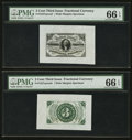 Fractional Currency:Third Issue, Fr. 1227SP 3¢ Face and Back Wide Margin Third Issue Pair PMG Gem Uncirculated 66 EPQ.. ... (Total: 2 notes)