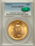 Saint-Gaudens Double Eagles, 1915-S $20 MS65+ PCGS. CAC....