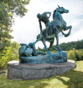 Fine Art - Sculpture, American:Contemporary (1950 to present), ANNA HYATT HUNTINGTON (American, 1876-1973). Torch Bearers,1955; cast in 1962. Bronze with natural verdigris patina. 18...