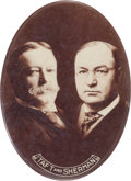 """Political:Pinback Buttons (1896-present), Taft & Sherman: An Extremely Rare Large 2 3/8"""" Oval Button...."""