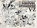 Original Comic Art:Covers, Ed Hannigan and Joe Rubinstein The Official Handbook of theMarvel Universe #12 Wraparound Cover Original Art (Mar...