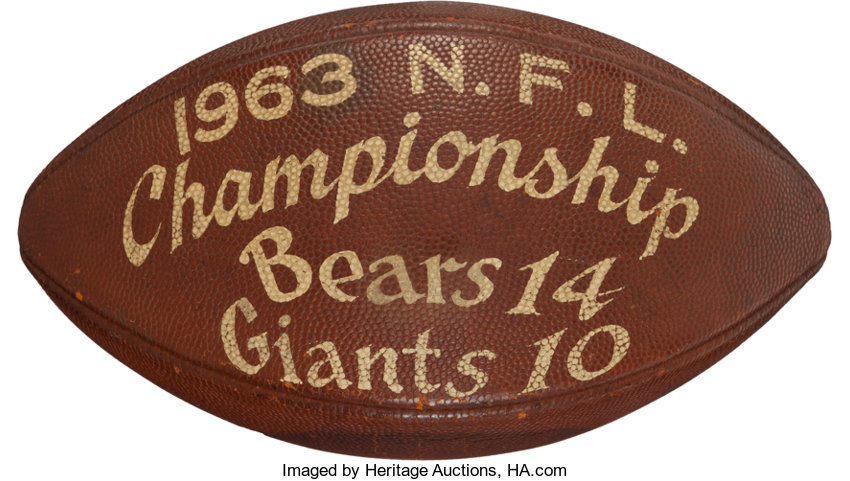 1963 NFL Championship Game Used, Multi Signed Football - Documented