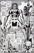 Original Comic Art:Splash Pages, Jack Kirby and Mike Royer Silver Star #4 Big Masai Goliathof the Ghetto Splash Page 14 Original Art (Pacific, 198...