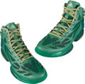 Basketball Collectibles:Others, Avery Bradley Game Worn, Signed Shoes....
