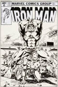 Original Comic Art:Covers, Bob Layton Unpublished Alternate Iron Man #131 Cover SceneOriginal Art (undated)....