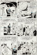 Original Comic Art:Panel Pages, Curt Swan and George Klein World's Finest Comics #155Nightman Page 21 Original Art (DC, 1966)....