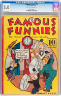 Platinum Age (1897-1937):Miscellaneous, Famous Funnies #6 (Eastern Color, 1935) CGC VG/FN 5.0 Cream to off-white pages....
