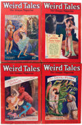Pulps:Horror, Weird Tales Group (Popular Fiction, 1928) Condition: Average VG....(Total: 7 Items)
