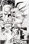 Original Comic Art:Panel Pages, Jim Lee and Scott Williams All Star Batman and Robin the BoyWonder #2 Page 8 Original Art (DC, 2005)....