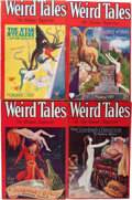 Pulps:Horror, Weird Tales Group (Popular Fiction, 1929) Condition: Average VG....(Total: 4 Comic Books)