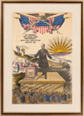 Political:3D & Other Display (1896-present), William McKinley: Glorious, Over-the-Top Campaign Banner....