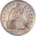 Seated Dollars, 1870-S $1 XF40 PCGS....