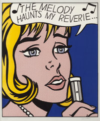 ROY LICHTENSTEIN (American, 1923-1997) Reverie (from the Pop Artists Volume II portfolio), 1965 Scre