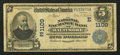 National Bank Notes:Maryland, Baltimore, MD - $5 1902 Date Back Fr. 590 The National Exchange Bank Ch. # (E) 1109. ...