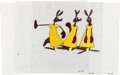 Animation Art:Production Cel, Kangaroo Courting Mr. Magoo Kangaroo Production Cel Sequence(UPA, 1954).... (Total: 3 Items)