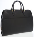 Luxury Accessories:Bags, Louis Vuitton Black Epi Leather Sorbonne Large Tote Bag. ...