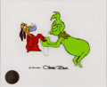 Animation Art:Production Cel, Dr. Seuss' How the Grinch Stole Christmas Max and GrinchProduction Cel Set-Up Signed by Chuck Jones (MGM, 1966)....