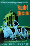 Memorabilia:Disney, The Haunted Mansion Disneyland Park Entrance Attraction Poster (Walt Disney, 1969). ...