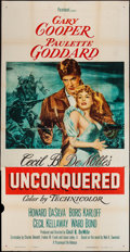 "Movie Posters:Adventure, Unconquered (Paramount, R-1955). Three Sheet (41"" X 80"").Adventure.. ..."