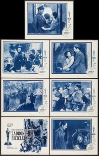 """The Bicycle Thief (MGM, 1949). Italian Language Title Lobby Card & Lobby Cards (6) (11"""" X 14""""). Foreign..."""