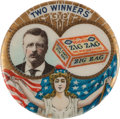 "Political:Pinback Buttons (1896-present), Theodore Roosevelt: ""Two Winners"" - TR and Zig Zag Candy! ..."