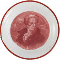 Political:3D & Other Display (pre-1896), Andrew Jackson: Enoch Wood Ceramic Cup Plate....