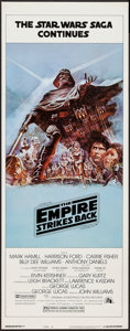 "Movie Posters:Science Fiction, The Empire Strikes Back (20th Century Fox, 1980). Insert (14"" X36"") Style B. Science Fiction.. ..."