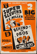 """Movie Posters:Black Films, Super Sleuths/Behind the Pros Combo (Toddy Pictures, 1930s).Trimmed One Sheet (27.5"""" X 41""""). Black Films.. ..."""