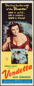 "Movie Posters:Crime, Vendetta (RKO, 1950). Insert (14"" X 36""). Crime.. ..."