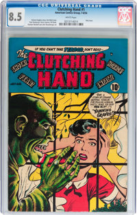 Clutching Hand #1 (ACG, 1954) CGC VF+ 8.5 White pages