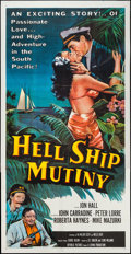 "Movie Posters:Adventure, Hell Ship Mutiny (Republic, 1957). Three Sheet (41"" X 80"").Adventure.. ..."