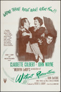 """Movie Posters:Comedy, Without Reservations (RKO, R-1950s). Military One Sheet (27"""" X 41""""). Comedy.. ..."""