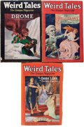Pulps:Horror, Weird Tales - H. P. Lovecraft-Related Group (Popular Fiction,1927).... (Total: 3 )