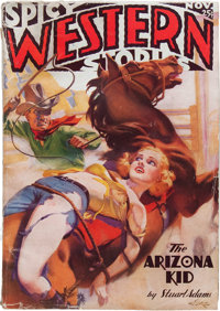 Spicy Western Stories - November '36 Original Cover (Culture, 1936) Condition: VG+