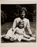 Political:Small Paper (1896-present), [John F. Kennedy]: Jacques Lowe Photograph of Jackie and Caroline. ...