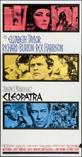 "Movie Posters:Historical Drama, Cleopatra (20th Century Fox, 1963). Three Sheet (41"" X 79"").Historical Drama.. ..."