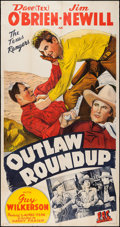 "Movie Posters:Western, Outlaw Roundup (PRC, 1944). Three Sheet (41.5"" X 78.75""). Western....."