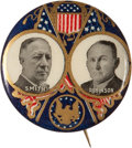 "Political:Pinback Buttons (1896-present), Smith & Robinson: A Gorgeous 1¼"" 1928 Jugate Button...."