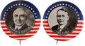 "Political:Pinback Buttons (1896-present), Warren G. Harding and James M. Cox: An Absolutely Stunning MatchedPair of Large 1¾"" 1920 Rarities.... (Total: 2 Items)"