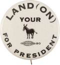Political:Pinback Buttons (1896-present), Alf Landon: A Rare and Popular Humorous Button from the 1936Election. ...