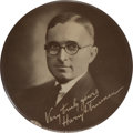 "Political:Pinback Buttons (1896-present), Harry S. Truman: The Key 4"" Truman for Judge Design in SuperbCondition. ..."