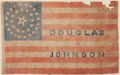 Political:3D & Other Display (pre-1896), Stephen A. Douglas: Ultra Rare and Desirable Parade Flag....
