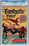 Silver Age (1956-1969):Superhero, Fantastic Four #4 Don/Maggie Thompson Collection pedigree (Marvel,1962) CGC NM- 9.2 Off-white to white pages....