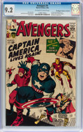 Silver Age (1956-1969):Superhero, The Avengers #4 Don/Maggie Thompson Collection pedigree (Marvel,1964) CGC NM- 9.2 Off-white to white pages....