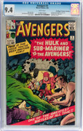 Silver Age (1956-1969):Superhero, The Avengers #3 Don/Maggie Thompson Collection pedigree (Marvel,1964) CGC NM 9.4 White pages....
