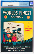 Golden Age (1938-1955):Superhero, World's Finest Comics #5 (DC, 1942) CGC NM 9.4 Off-white to white pages....