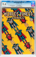 Golden Age (1938-1955):Superhero, World's Finest Comics #37 (DC, 1948) CGC NM 9.4 Off-white to white pages....